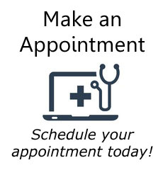 Button to make an appointment at Cherubino Health Center