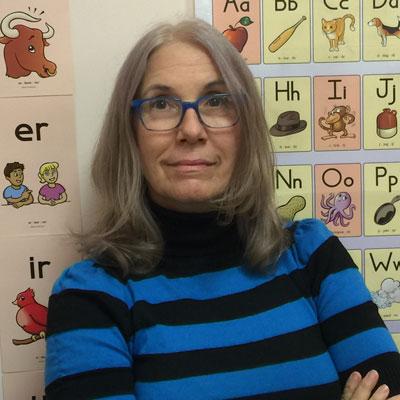 Linda Cherubino Reading Tutor and certified brain gym instructor