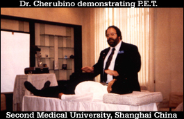 Dr. Ron Cherubino demonstrating Pulse Energy Technique and Second Medical University Shanghai China