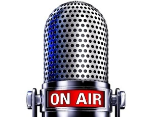 on air sign on microphone for podcast on immunity autoimmunity and alternative healthcare