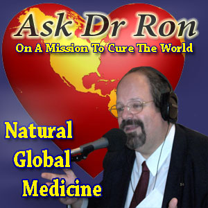 Ask Dr Ron Radio Logo in Dark Blue