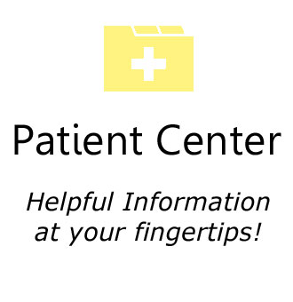 Patient center icon in light yellow