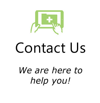 Contact us icon in green
