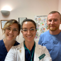 Dr. Chris, Dr. Grace and Dr. Lars at Cherubino Health Center
