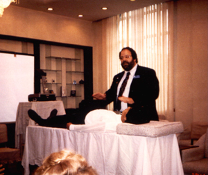 Dr. Ron Cherubino demonstrating pulse energy technique at the second medical University in Shanghai China