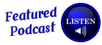 Featured Podcast button in Blue