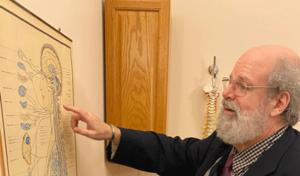 Dr Ron Cherubino teaching about the nervous system at Cherubino Health Center, Southborough Massachusetts.